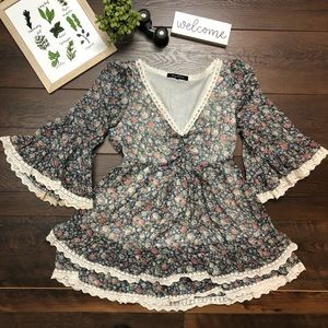 Foreign Exchange Floral Blouse